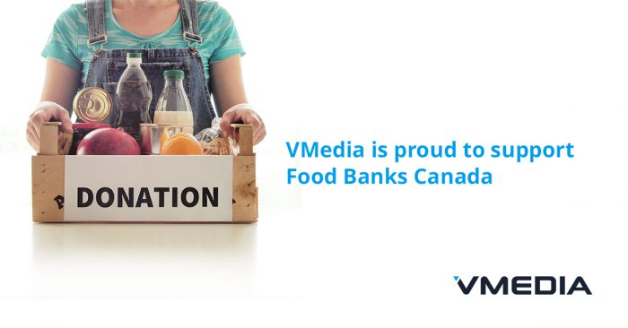 VMedia is Proud to Support Food Banks Canada