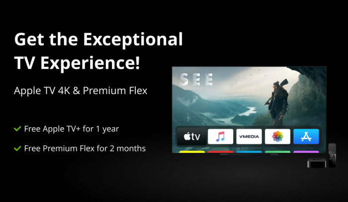 VMEDIA LAUNCHES NEW TV APP AND OFFERS APPLE TV 4K TO NEW AND EXISTING CUSTOMERS