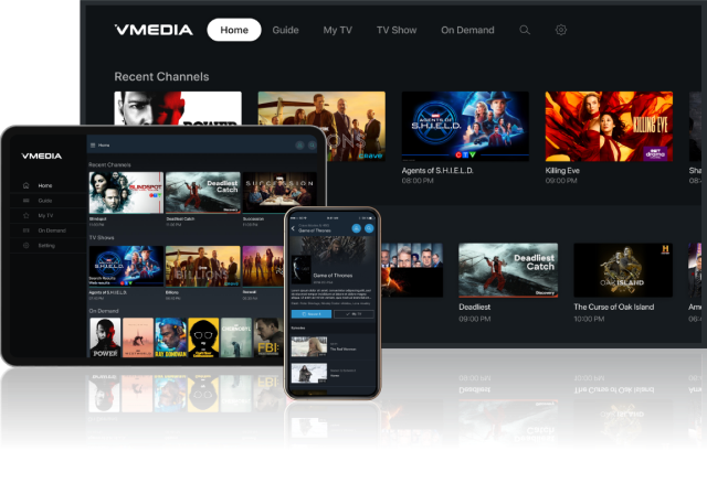 Try VMedia TV FREE on your streaming devices!