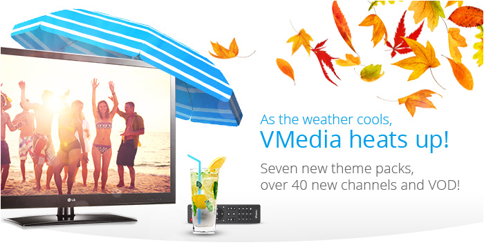 VMedia TV – 40 New Channels and VOD!